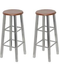 Kovové barové židle Steel, 2ks