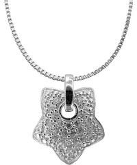 trendor Silber Halskette mit Stern-Anhänger 48764