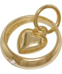 trendor Gold-Taufring mit Herz-Einhänger 78261