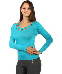 TopMode Nápaditý dámský svetr modrá