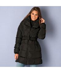 FROCK AND FRILL Černá zimní bunda se širokým límcem
