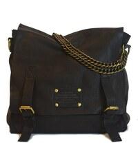 Kožená vintage brašna O My Bag Sleazy Jane, černá