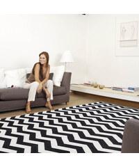 Webtapetti Vysoce odolný kuchyňský koberec Optical Black White, 80x130 cm