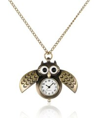 JewelsHall Náhrdelník s hodinkami sovička