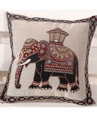 Lesara Kissenhülle mit orientalischem Elefanten-Motiv 45x45