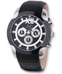 7bf9c09a5d3 Pánské luxusní chronograph černobílé vodotěsné hodinky JVD steel C1176.3