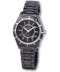 Luxusní černé společenské keramické náramkové hodinky JVD ceramic J6007.2 7fefa20a4ee