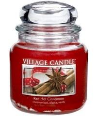 Village Candle Svíčka ve skle Red Hot Cinnamon - střední