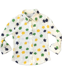 Lesara Kinder-Bluse mit Blätter-Print - 116