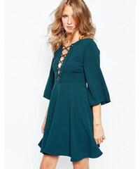 Millie Mackintosh - Kleid mit Trompetenärmeln und Bänder-Design - Grün