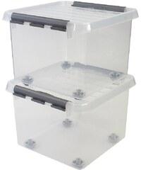 SUNWARE 2er Set Aufbewahrungsboxen »26 Liter«, mit Rollen