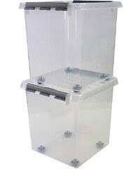 SUNWARE 2er Set Aufbewahrungsboxen »38 Liter«, mit Rollen