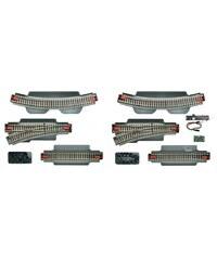 Roco Schienen-Ergänzungsset, Spur H0, »Gleisergänzungsset zu Digital Startpackung - Gleichstrom«