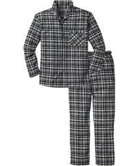 bpc bonprix collection Pyjama en flanelle noir manches longues lingerie - bonprix
