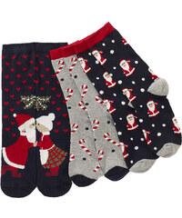 bpc bonprix collection Lot de 3 paires de chaussettes de Noël bleu lingerie - bonprix