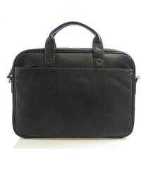 Černá kožená taška Hexagona 62544 černá