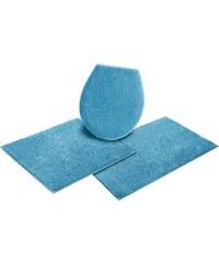 HOME AFFAIRE COLLECTION Badematte 3tlg. Hänge WC-Set Collection Maren Baumwolle Höhe 15 mm blau 10 (3 tlg. Hänge WC Set)