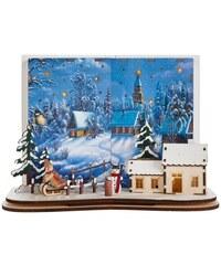Winterdorf mit LED-Beleuchtung Baur blau