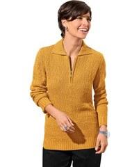 CLASSIC BASIC Damen Classic Basic Pullover gelb 40,44,48,50,52,54