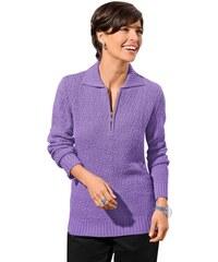 Damen Classic Basic Pullover CLASSIC BASIC lila 38,40,42,44,46,48,52,54