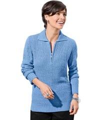 CLASSIC BASIC Damen Classic Basic Pullover blau 38,40,42,44,46,48