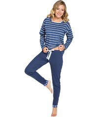 Dámské pyžamo Italian Fashion Astrid dł.r. dł.sp., modrá - bílá