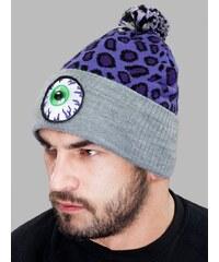 Mishka Keep Watch Safari Knit Pom Beanie Lilac