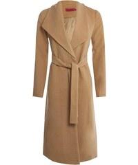 BOOHOO Béžový maxi kabát Caroline