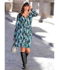 Šaty pro plnoštíhlé, SHEEGO, šaty v nadměrné velikosti (vel.54,56 skladem) 54 tyrkysová Dopravné zdarma!