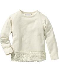 bpc bonprix collection Sweat à dentelle, T. 80/86-128/134 beige manches longues enfant - bonprix