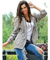 Luxusní pletený svetr/kabátek - ANASTAZJA