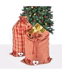 Lesara Karierter Geschenkbeutel Rot-Weiß - Karos groß