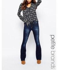 Vero Moda Petite - Jeans mit Schlag im Stil der 70er - Blau