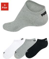 PUMA Nízké ponožky Puma (3 páry) bílá+šedý melír+černá