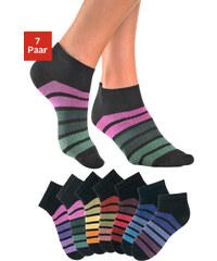 H,I,S Nízké ponožky H.I.S (7 párů) 7x černá proužky