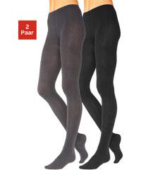 LAVANA Punčochové kalhoty Lavana 2 ks 1x černá + 1x antrazitový melí
