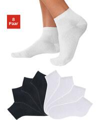 GO IN Nízké ponožky Go in (8 párů) 4x černá+4x bílá