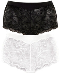 VIVANCE Kalhotky panty, Vivance (2 ks) bílá + černá