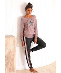 BUFFALO_Damen Pyžamo, Buffalo fialová-černá