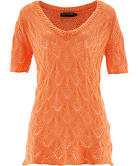 bpc selection Pull ajouré, manches courtes orange femme - bonprix
