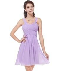 Ever Pretty plesové šaty krátké fialové 3539 9e899338b77