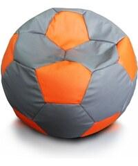 Ecopuf Sedací vak (pytel) sport míč velikost XXL šedo-oranžový
