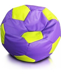 Ecopuf Sedací vak (pytel) sport xxl míč fialovo-limetkový
