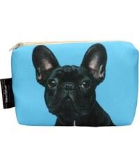 DekumDekum Kosmetická taška Buldok (modré pozadí) (KSM019)