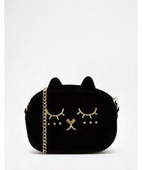 ASOS - Sac bandoulière motif chat - Noir