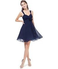 2c1322dbb57 Ever Pretty šifonové šaty krátké tmavě modré 3266