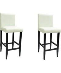Moderní bílé barové židle (2ks)