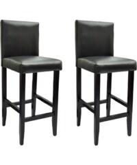 Moderní černé barové židle (2ks)