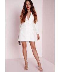 MISSGUIDED Bílé sako s dlouhým rukávem
