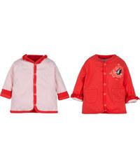 G-mini Dívčí oboustranný kabátek Krteček, bílo-červený